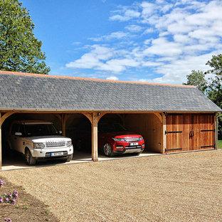 Freistehender, Mittelgroßer Landhaus Carport in Gloucestershire