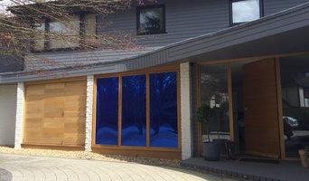 False Oak Garage Door