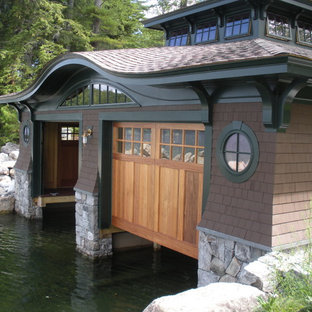 Inspiration for a country boathouse in Boston.