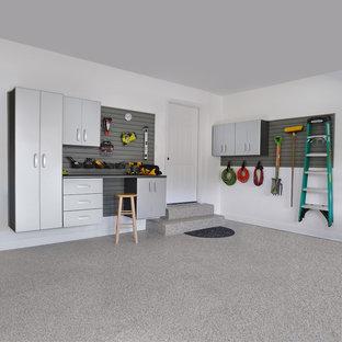 Inspiration for a large modern garage remodel in Salt Lake City