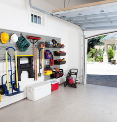 traditional garage and shed by Flow Wall System