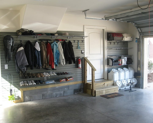 Garage mudroom houzz for Garage mudroom
