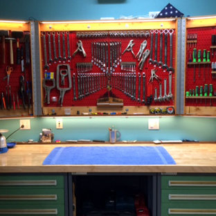 Folding Pegboard Cabinet Doors with Wall Control Red Metal Pegboard