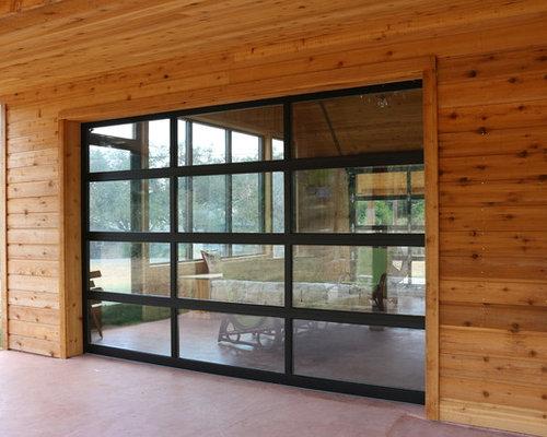 full view garage doorEntertainment room with fullview overhead garage door