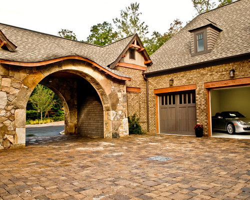 Drive through portico home design ideas renovations photos for House plans with drive through garage