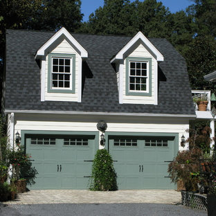 Inspiration for a classic detached double garage in Charlotte.