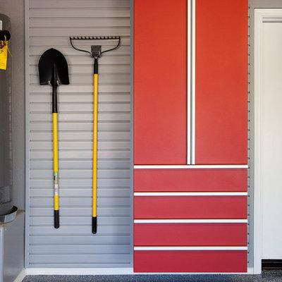 Garage - industrial garage idea in Other