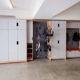 Example of a large trendy attached garage design in San Francisco