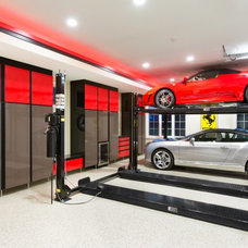 Contemporary Garage And Shed by Closet Organizing Systems