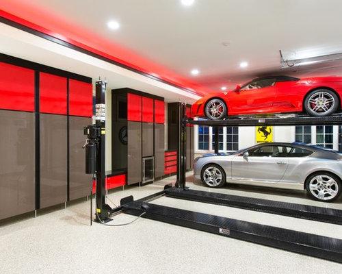 Tandem garage houzz for 2 car tandem garage