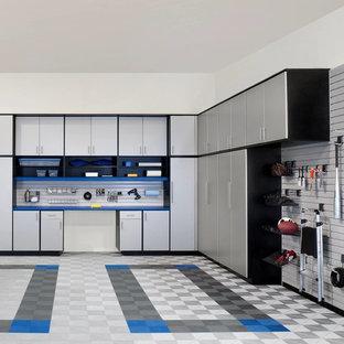 Idéer för en stor modern tillbyggd garage och förråd