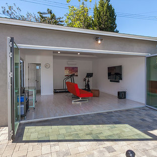 Garage - contemporary garage idea in Santa Barbara