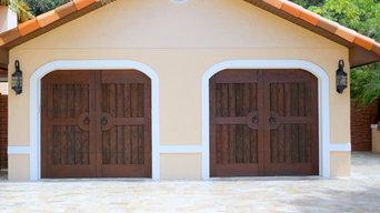 Garage Door in  Pecky & Clear Cypress