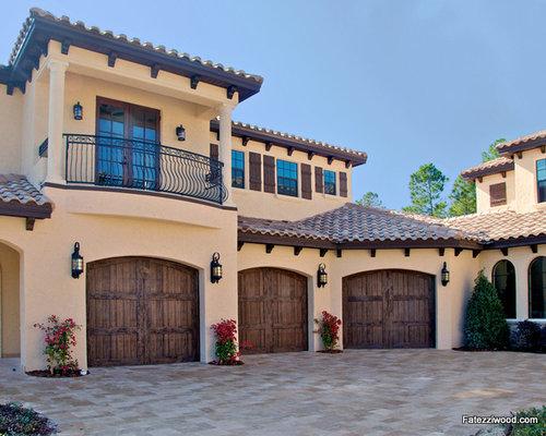 Mediterranean jacksonville garage and shed design ideas for Mediterranean garage doors
