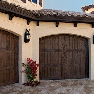 Garage Doors in Clear & Pecky Cypress
