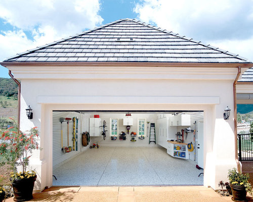 Inexpensive Garage Renovation Houzz - Garage renovation pictures