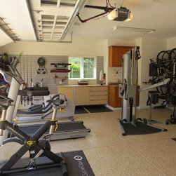 Traditional Exercise Room Garage And Shed Design Ideas