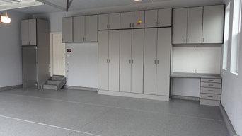 Garage Floor Coating & Cabinets