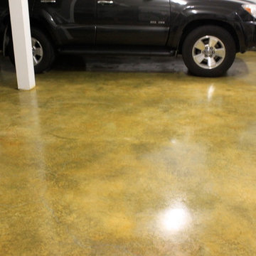 Garage Floor Stain with Honey Color Stain