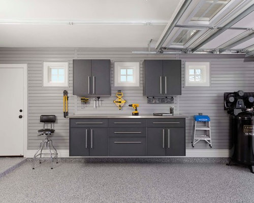 Small attached garage design ideas remodels photos for Small two car garage