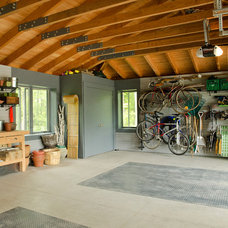 Traditional Garage And Shed Garage Interior