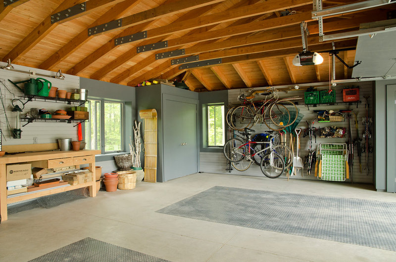 traditional garage and shed by Village Builders Inc.