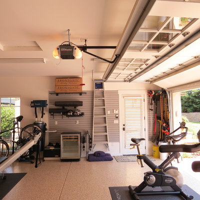 Garage - mid-sized traditional attached garage idea in San Francisco