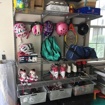 Garage Organization - sports gear, toys etc