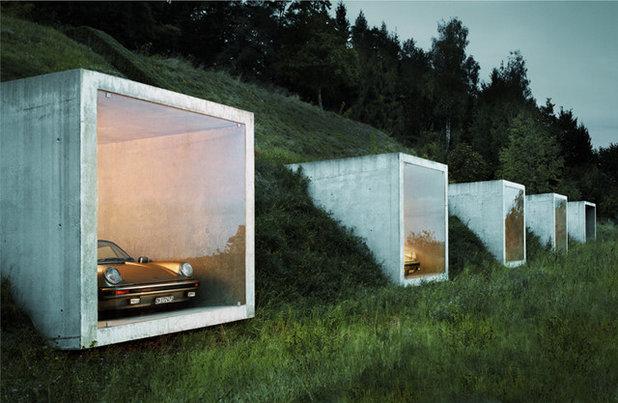 Minimalistisch Garage by Peter Kunz Architektur