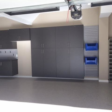 Garage Remodel with Added Storage and Floor Remodel
