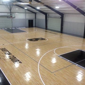 Garage Sport Court Transformation