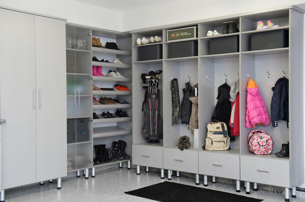 Modern Garage by Closet Factory