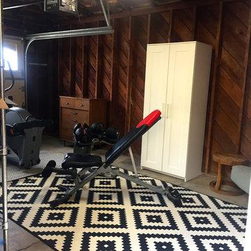Garage Surprise Makeover - Storage, Gym and man cave