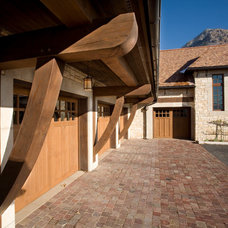 Traditional Garage And Shed by THINK architecture Inc.
