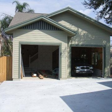 Garage with Loft and Antique Stairway