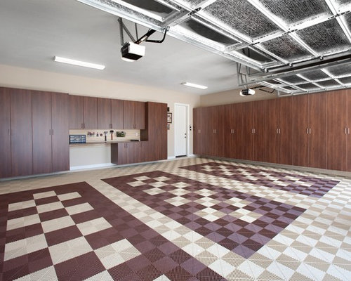 Garage flooring houzz Two floor garage
