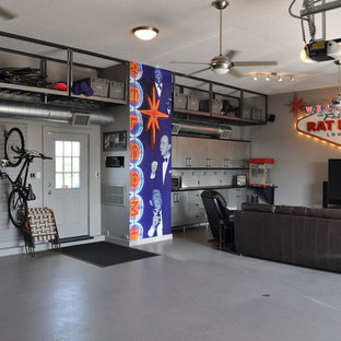 This is an example of a large industrial attached garage in Austin.