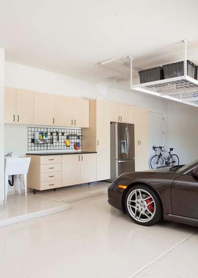 Contemporary Garage by A Closet Case