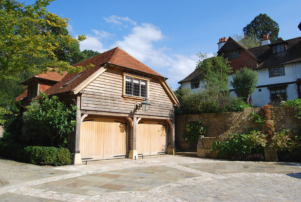 Traditional Garage by Noel Wright Architects