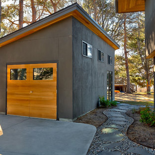 Example of a trendy detached garage design in Boise