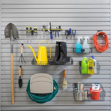 Gardening Supplies Storage on Custom Slat Wall