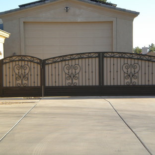Large country attached two-car garage in Phoenix.