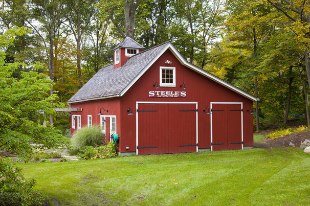 Traditional Garage And Shed by South County Post & Beam, Inc.