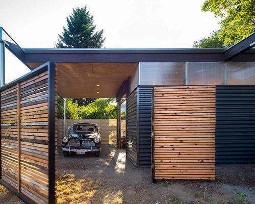 Fotos de garajes dise os de cocheras techadas modernas - Cocheras abiertas ...