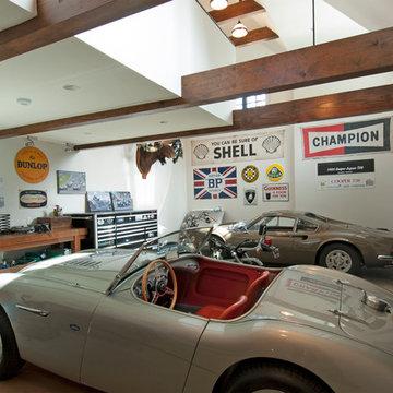 Greenwich, CT collector's garage