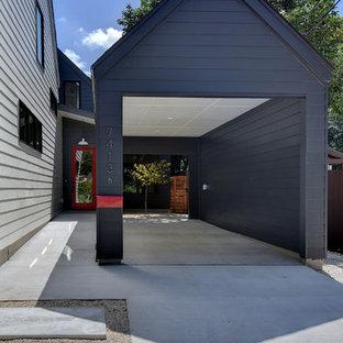 Inspiration pour un petit garage séparé rustique.