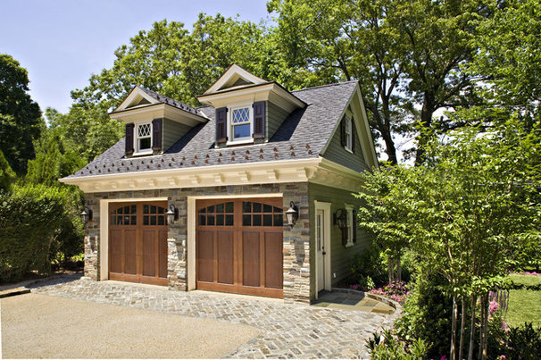 Traditional Garage And Shed by Gustavson Dundes