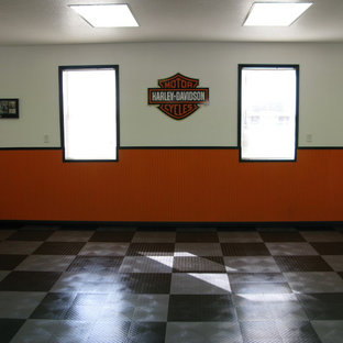 Inspiration For A Mid Sized Contemporary Attached Two Car Garage Remodel In Other Save Photo Harley Davidson
