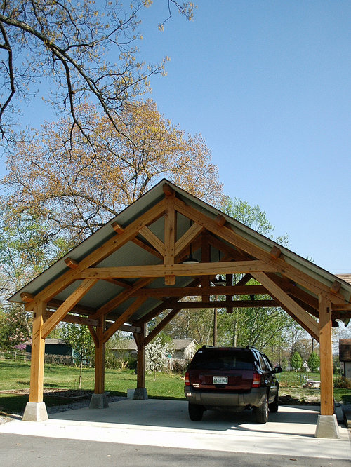 Timber carport kits home design ideas pictures remodel for Open carport plans