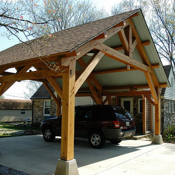 Heavy Timber Porte-Cochere in East Tennessee